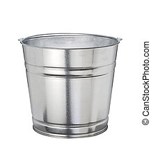 Bucket - Aluminum Bucket isolated on a white background