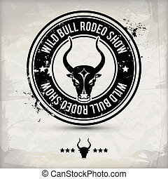 alternative bull stamp - alternative black bull label stamp...