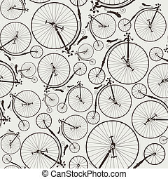 vintage bicycle seamless, wallpaper, eps8, no...