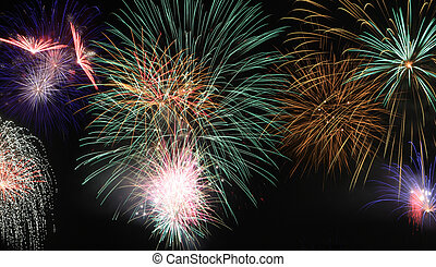 Fireworks basic - fireworks scene for independance days and...