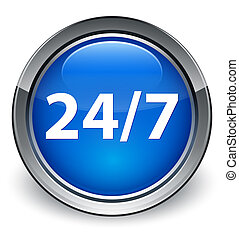 24/7 glossy blue button