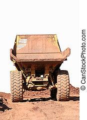 Dumptruck rearview - A rearview of a large dumptruck