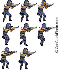 SWAT Officer Walking Animation sprite