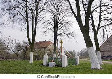 Ornamented country wayside shrine - wayside shrine has the...