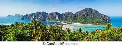 Beautiful view of Phi Phi island from viewpoint