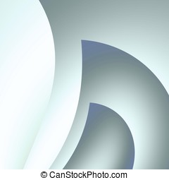 Gray Curving Abstract