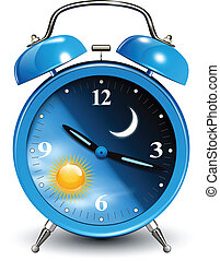 Alarm clock, vector illustration