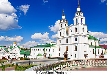 Cathedral of Holy Spirit in Minsk. - Main Orthodox church of...