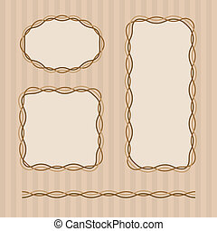 Frame set in brown colors