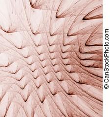 Curving Ridges Abstract - Curving ridges texture, reddish...