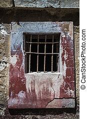 Window of an Abandoned Historic Prison in Turkey