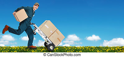 Delivery courier Shipping and moving service background