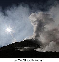 volcan, Etna, Sicile