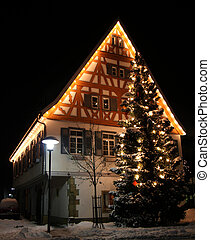 Merry Christmas in Germany X-mas - Christmas scene in...