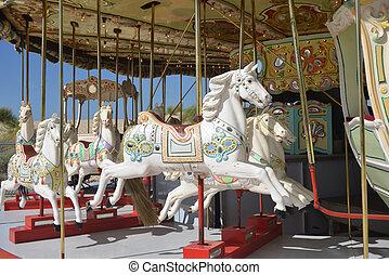 Carrousel - Colourfal carrousel on the Belgian coast.