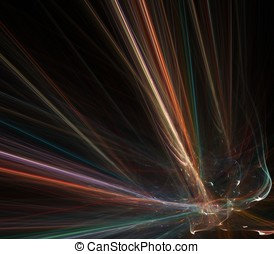 Flowing Fibers Abstract