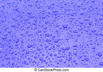 drop of water gives a harmonic structure on the metal...