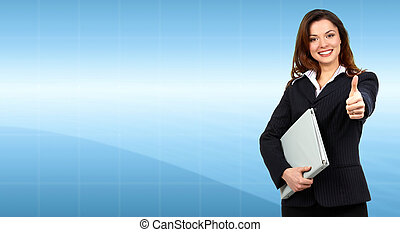 Business woman - Beautiful young Business woman Success