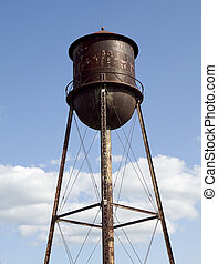 Closeup of Antique Water Tower