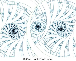 Triple Spiral Abstract - Threaded, triple spiral design -...