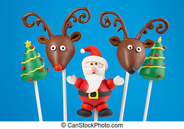 Christmas cake pops - Santa Claus, Reindeer and Christmas...