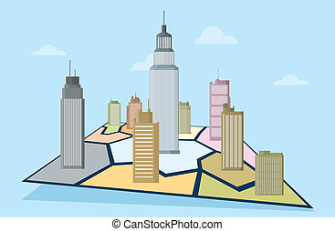 Business Territories - Vector illustration of business...