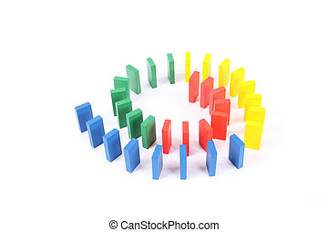 color domino - the color domino arranged in a circle