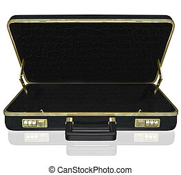 Empty Briefcase Copyspace Your Contents Inside - An empty...