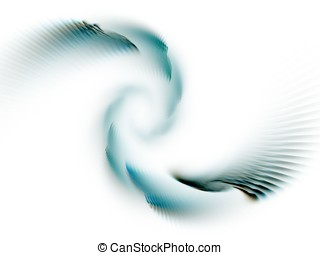 Spiral Motion Abstract - Subtle teal green in spiral...