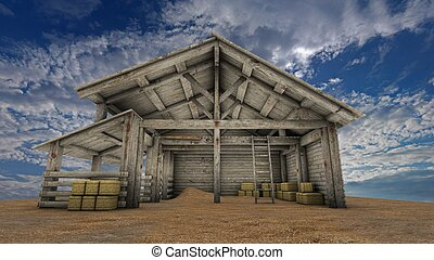 Wooden shed  - image of wooden shed