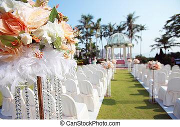 Al aire libre, boda