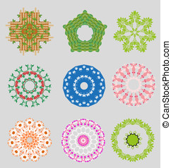 Originally created vector ornament collection for design...