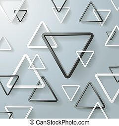 Black And White Triangle Background