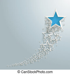 White Stars Dust Growth Blue Star