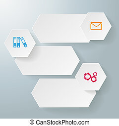 Infographic 3 Options Long Hexagons - Infographic design...
