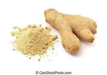 Isolated ginger. Element of design.