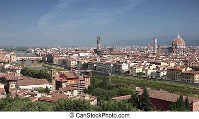 Florence skyline in summertime, Ita - Florence cityscape...
