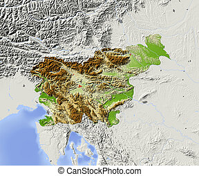 Slovenia, shaded relief map - Slovenia Shaded relief map...