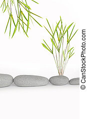 Zen Simplicity - Zen abstract of natural grey spa stones in...