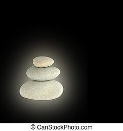 Glowing Spa Stones