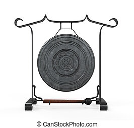 Metal Gong Isolated - Metal Gong isolated on white...