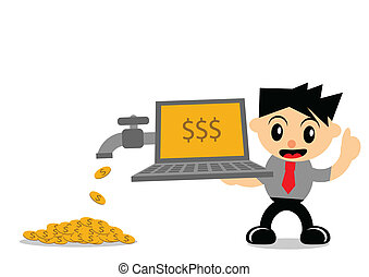 businessman activity - illustration vector graphic of...