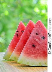 cortado, melancia