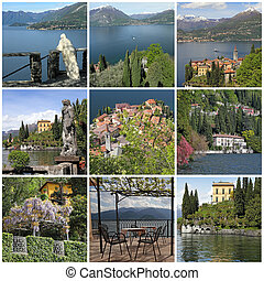 collection of images from Varenna - beautiful small town on...