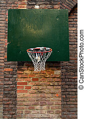 Damaged Urban Basketball Net