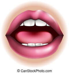 Mouth body part illustration - An illustration of a mouth...