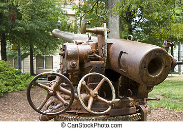 Cannon Hardware - An old cannon mounted at a county...