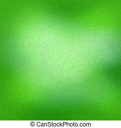 Green grungy background with floral ornaments