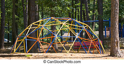 Colorful Playground Bars - A colorful climbing bar...
