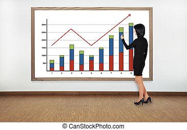 mujer, dibujo, gráfico